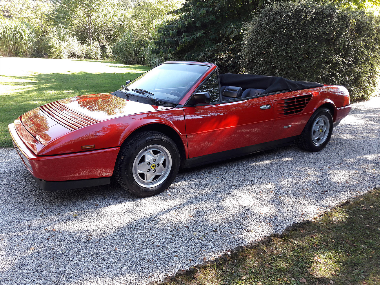 amazing images of ferrari mondial noire a vendre fiat world test drive. Black Bedroom Furniture Sets. Home Design Ideas